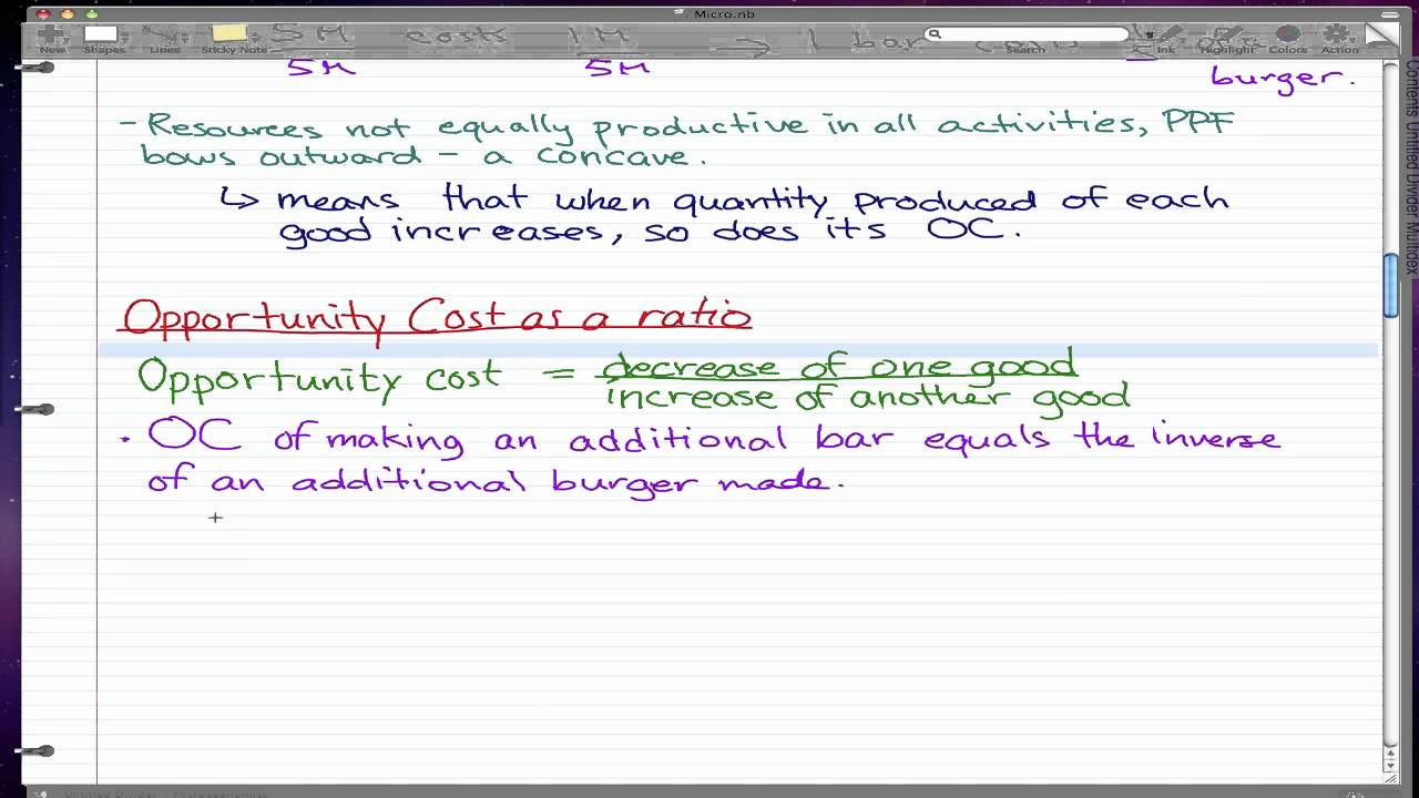 Find opportunity cost