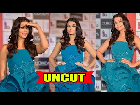 UNCUT: Aishwarya Rai Bachchan Stuns In Strapless Gown At Beauty Launch Event!