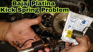How to Replace Bajaj Platina Kick Spring | Gajanan Auto Service And Parts