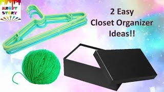 2 Easy pocket friendly closet organizer diy / Closet organizer ideas!!