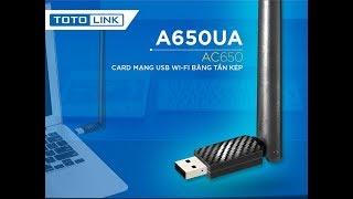 USB WIFI TOTOLINK AC650UA REVIEW - MỞ HỘP ĐÁNH GIÁ NHANH - LAZADA