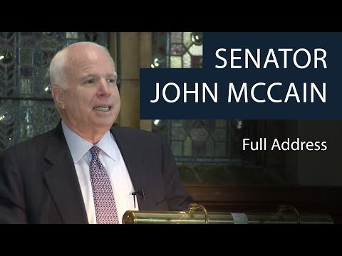 Senator John McCain | Full Address | Oxford Union