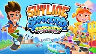 Chơi Skyline Skaters lướt ván chạy lụm vàng trên nóc nhà trốn cảnh sát cu lỳ chơi game lồng tiếng
