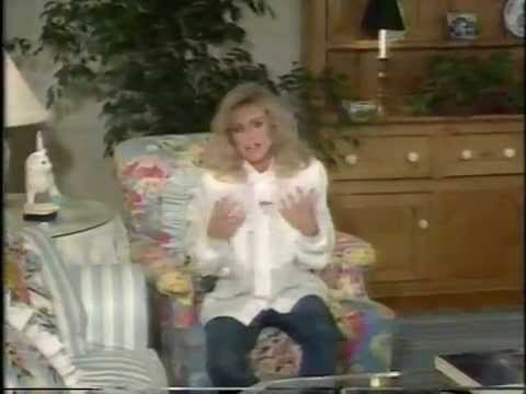 Donna Mills gives a tour of her home in1988