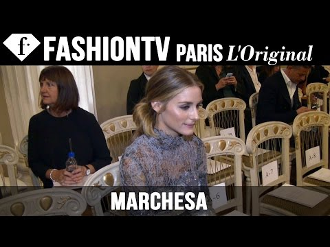Marchesa Front Row Spring 2015 ft Olivia Palermo, Lily James | London Fashion Week LFW | FashionTV
