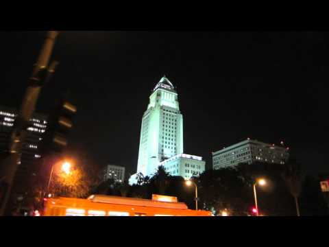 Los Angeles City streets buildings asst'd realtime (6 sample clips) V10828