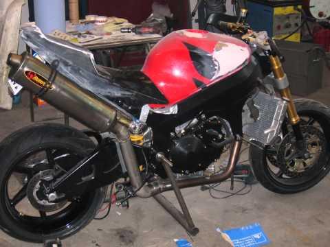 Vtr Sp1 Exhaust Honda Vtr Sp1 Umbau Zum
