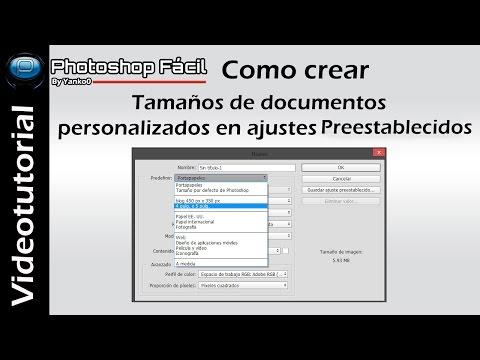 Tamaños de documentos personalizados en ajustes preestablecidos, tutorial bby yanko0