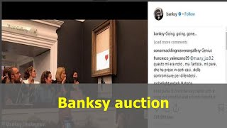 Banksy auction bidder who put up £1m for painting shredded by elusive artist moments later