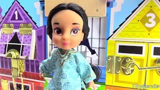 Disney Princess Magical Spiral Castle Transformation Cinderella, Rapunzel, Belle