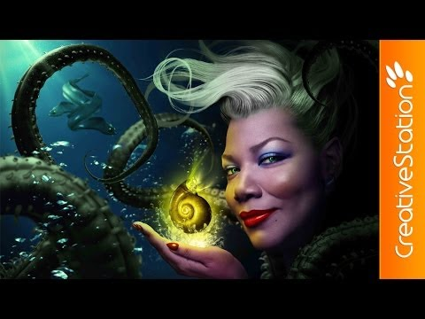 Ursula / Queen Latifah  - Speed art (#Photoshop) | CreativeStation