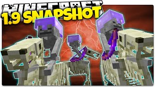 Minecraft 1.9 Snapshot | SKELETON HORSEMEN | Skeleton Horses, Skeleton Buff (Minecraft 1.9 News)