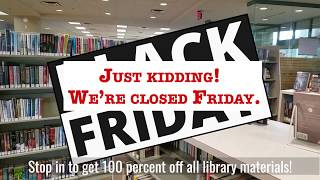 It's Black Friday at Washington County Library!