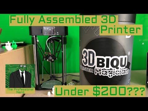 Assembled 3D Printer Under $200 - BIQU Magician Review
