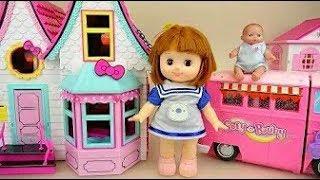 Куколка Котенок Дом и Кемпинг Автобус Автомобиль Игрушки Детские Доли.