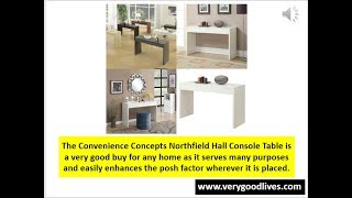 Convenience Concepts Northfield Hall Console Small Coffee Table Review