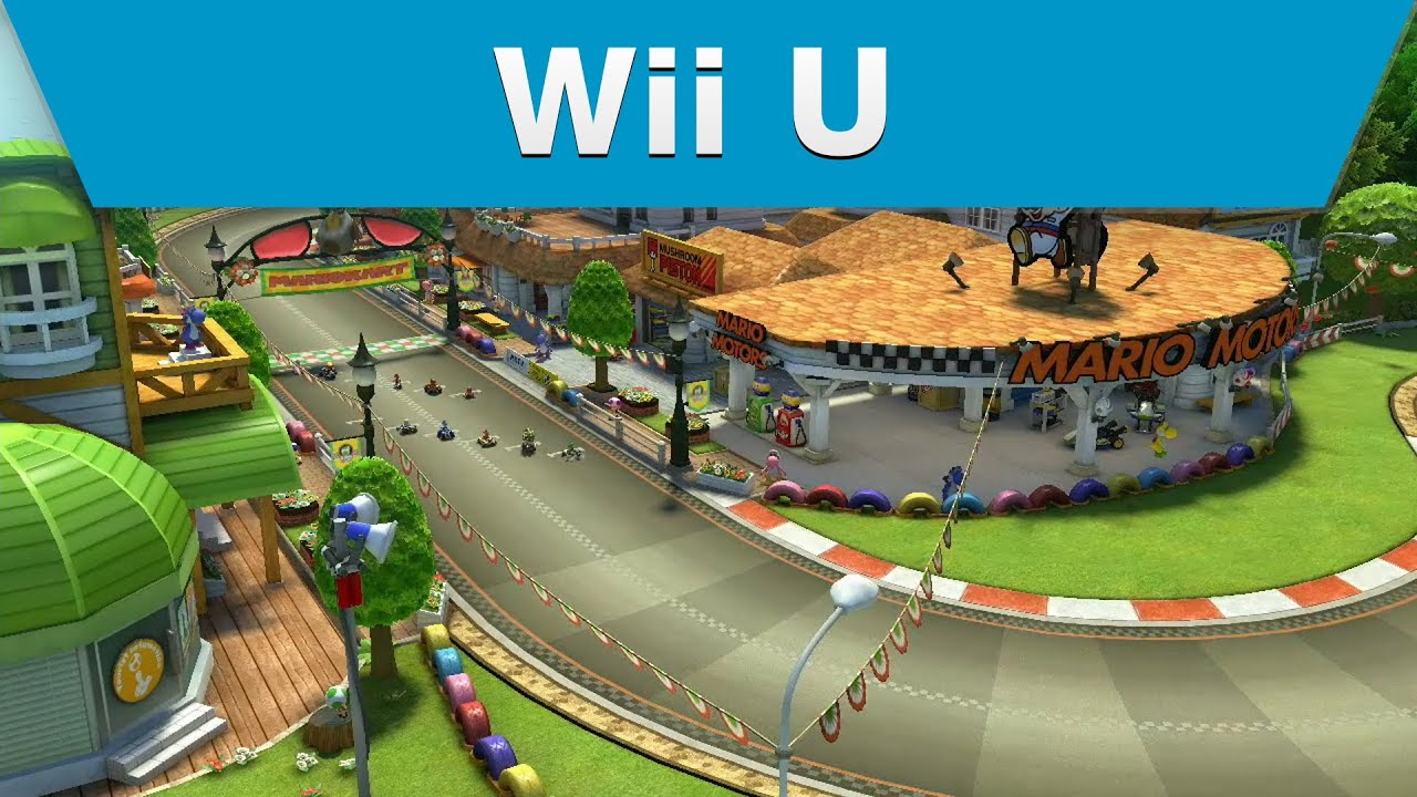 wii u mario kart 8 yoshi circuit youtube. Black Bedroom Furniture Sets. Home Design Ideas