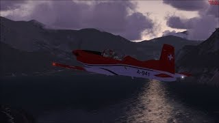 FSX Pilatus PC-7 Flight from Interlaken to Meiringen.