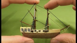 VERY SMALL SHIP from wood-HOW TO DIY