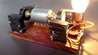 Homemade Easy DIY Free energy With Magnet & Motor - Science experiment at School