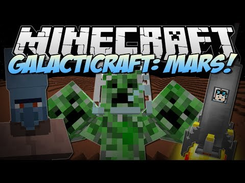 Minecraft   GALACTICRAFT: MARS! (3 HEADED CREEPER BOSS!)   Mod Showcase
