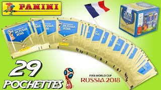 50 Pochettes Panini Coupe du Monde Foot Russia 2018 Partie 2 France Collection Jouet Review