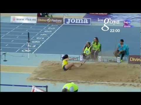 Triple salto femenino Campeonato de España 2013 en pista cubierta
