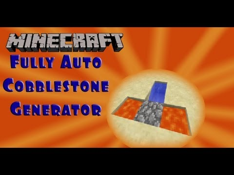 Fully Automatic Cobblestone Generator and Harvester (afk farm) :: Minecraft 1.5 tutorial