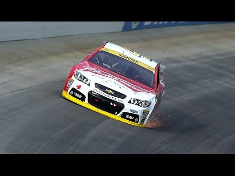 Harvick blows a tire while leading @ 2014 NASCAR Sprint Cup Dover