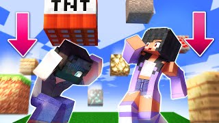 Minecraft but, the BLOCKS FALL AROUND US!