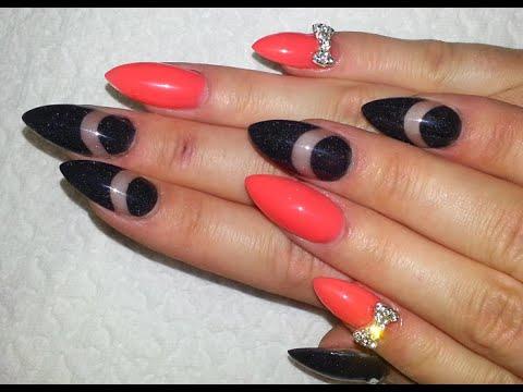 Neon Orange And Black Nails Hot Neon Orange And Black