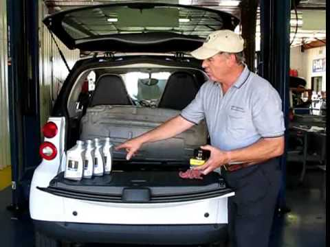 Smart Car Oil Change with Topside Oil Changer