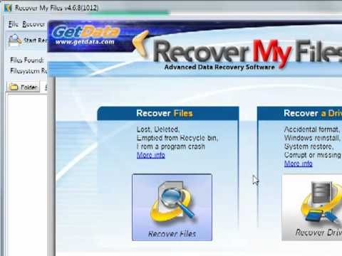 Recovery My Files_Files Recovery Software_ Demonstration