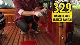 Giấu 329 bánh heroin cực kỳ tinh vi trên xe bán tải