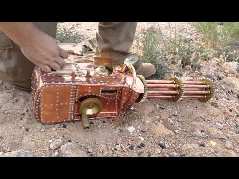 Functional .22 Cal Steampunk Gatling Gun