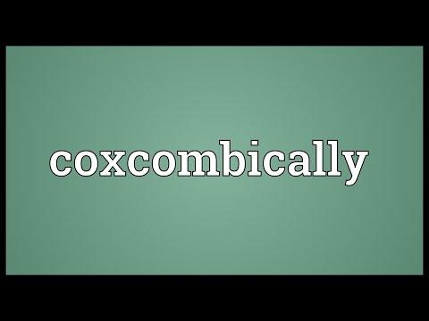 Header of coxcombically