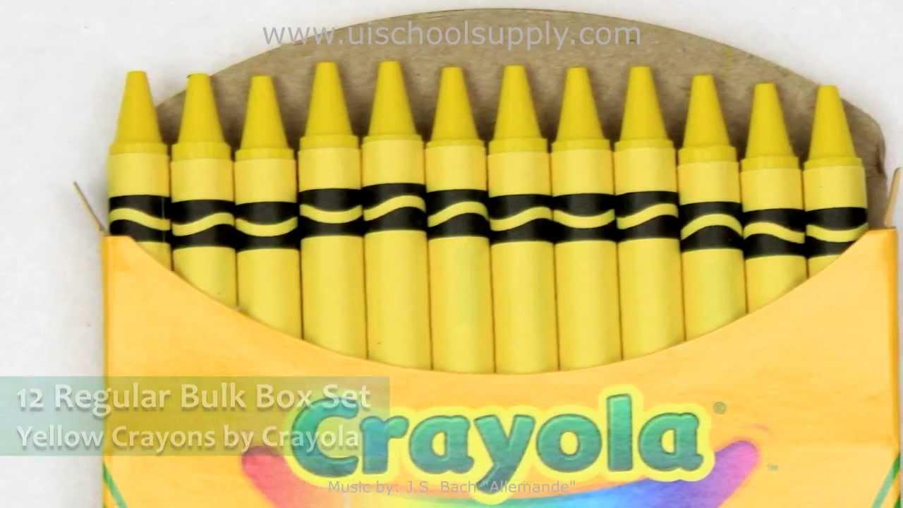 12 Regular Yellow Cray...