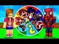 KORKUNÇ ÇİZGİFİLM KAHRAMANLI ŞANS ÇARKI OYNADIK ! - Minecraft