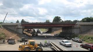 Time-lapse of Southington I-84 bridge replacement