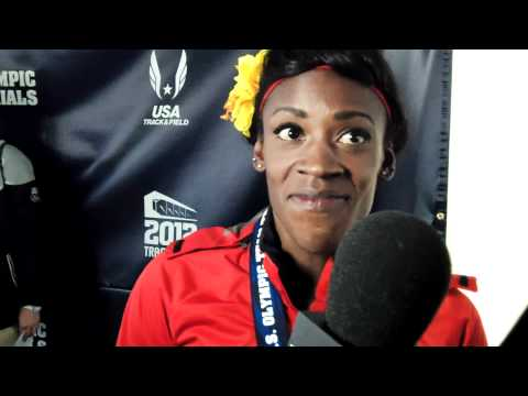Alysia Montano after Winning 800 meters at 2012 Olympic Track & Field Trials
