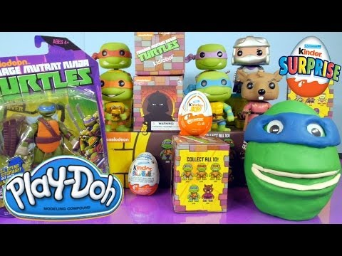 Play Doh TMNT Surprise Egg Kidrobot 2014 Mystery Bags Kinder Surprise Eggs By Disney Cars Toy Club