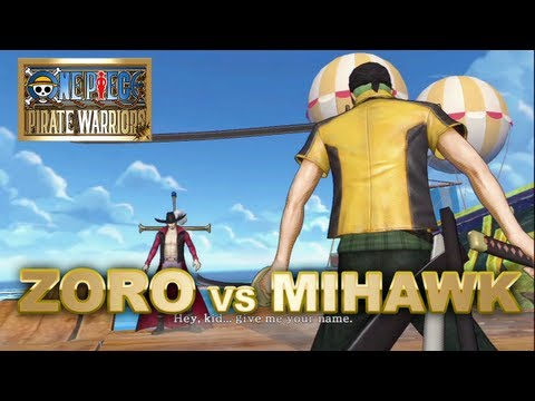 One Piece Pirate Warriors - PS3 - Roronoa Zoro Vs Mihawk