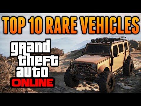 GTA 5 - Top 10 Rare & Secret Vehicles Online - Best Rare & Secret Cars Online Locations!