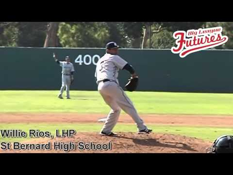 WILLIE RIOS, LHP, ST BERNARD HIGH SCHOOL, PITCHING MECHANICS AT 200 FPS - 03/10/2014