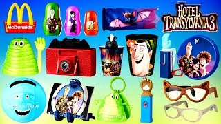2018 McDONALDS HOTEL TRANSYLVANIA 3 HAPPY MEAL TOYS DISNEY FROZEN KINDER SURPRISE EGG UNBOXING WORLD