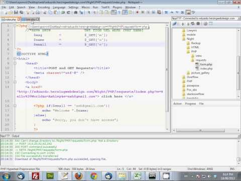 2. Intro to PHP (POST and GET, concatenation, single and double quotes)