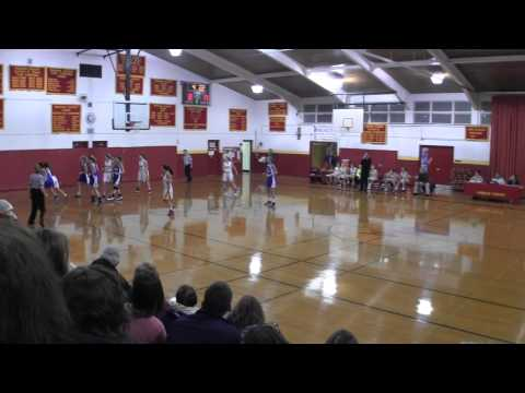 2013-14 Palmerton Blue Bombers girls basketball team vs Moravian Academy 01 27 2014