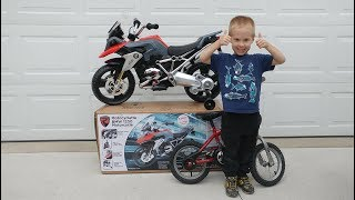 Kids Rollplay 6v BMW 1200 GS Motorcycle Unboxing & Assembly Motorbike