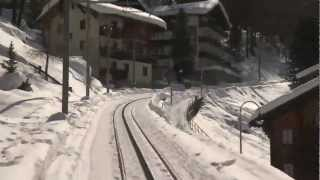 Time Lapse Zermatt to Gornergrat Train in 2 Minutes!