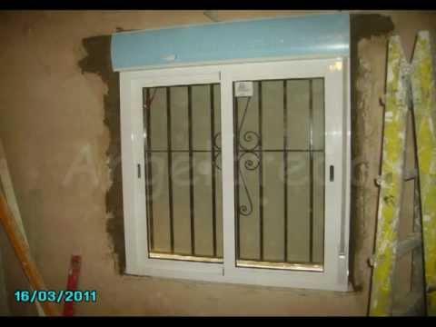 Como colocar una ventana de aluminio en un marco de madera
